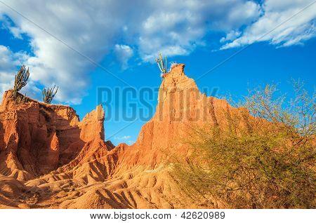 Landscape Of Tatacoa Desert, Colombia