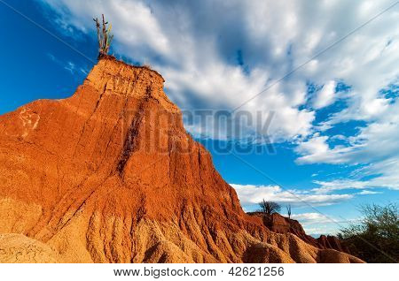Towering Red Rock Formation