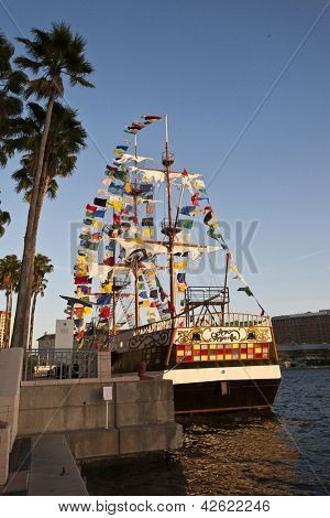 TAMPA, FLORIDA - JANUARY 31: Over 1 million people attend at least one Gasparilla Pirate Fest event on January 31, 2013 in Tampa, Florida.