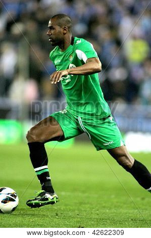 BARCELONA - FEB, 17: Paulao of Betis during the Spanish League match between Espanyol and Betis at the Estadi Cornella on February 17, 2013 in Barcelona, Spain