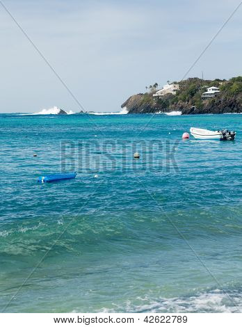 Hull Bay Beach Scene St Thomas Usvi