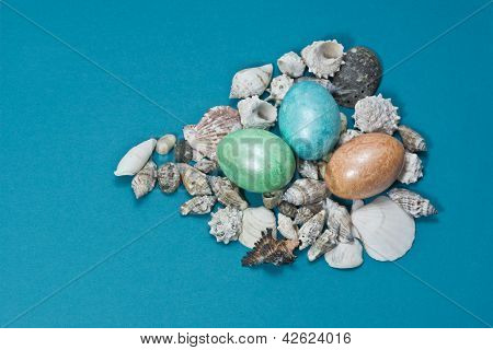 Easter Eggs With Shells