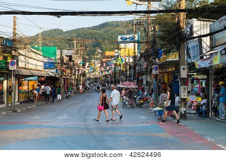 Patong Bangla Road At Day, Phuket, Thailand