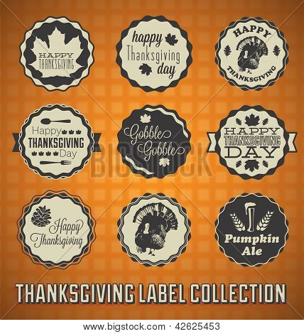 Happy Thanksgiving Day Labels