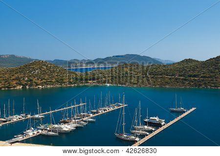 Yachts In Kas Turkey