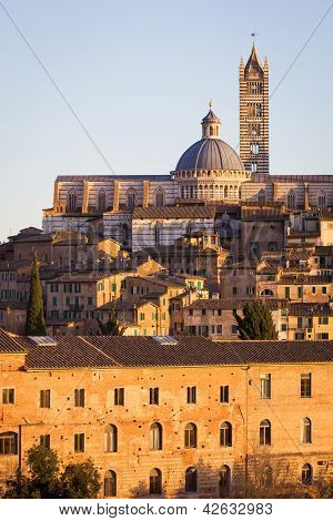 Siena At Sunset, Tuscany, Italy
