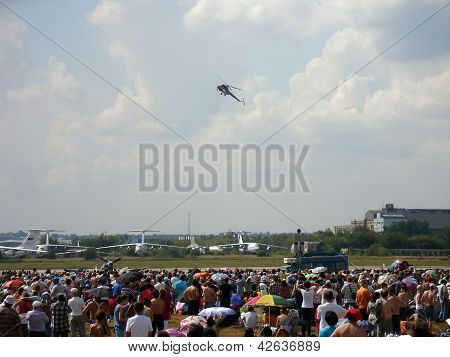 Helicopter Mi-2 On Air Show