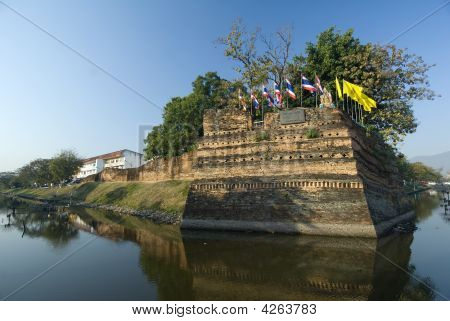 The Fortified Walls Of Chiang Mai Thailand