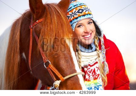 Woman With Horse
