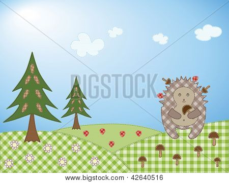 Hedgehog And Mushroom