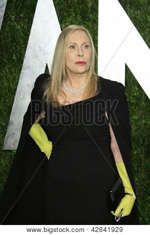 WEST HOLLYWOOD, CA - FEB 24: Faye Dunaway at the Vanity Fair Oscar Party at Sunset Tower on February 24, 2013 in West Hollywood, California