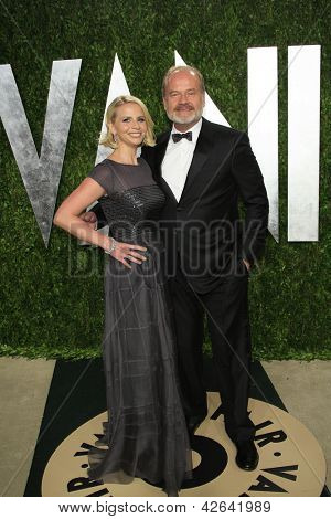 WEST HOLLYWOOD, CA - FEB 24: Kelsey Grammer, Kayte Walsh at the Vanity Fair Oscar Party at Sunset Tower on February 24, 2013 in West Hollywood, California