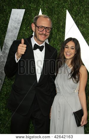 WEST HOLLYWOOD, CA - FEB 24: Terry Richardson at the Vanity Fair Oscar Party at Sunset Tower on February 24, 2013 in West Hollywood, California