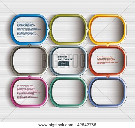 Text box vector / frame vector / colorful cubes with arrows and place for your text