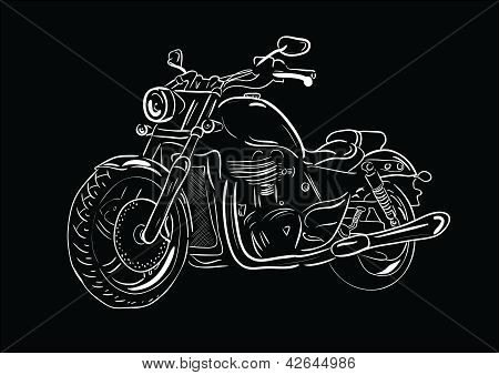 Sketch motorcycle