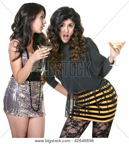 Club Girls Gossiping