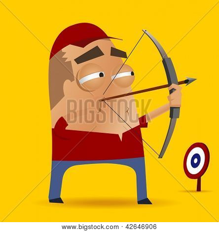 archery competition. Vector illustration
