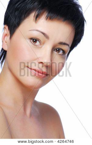 Brunette Caucasian Woman