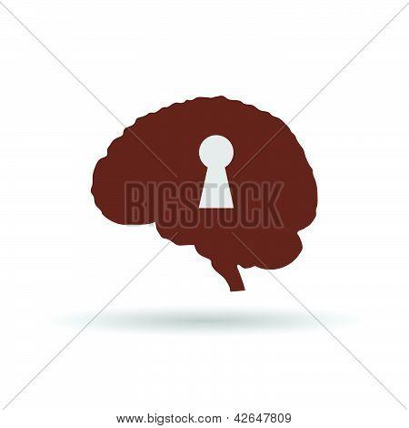 Keyhole On The Brain Vector Illustration