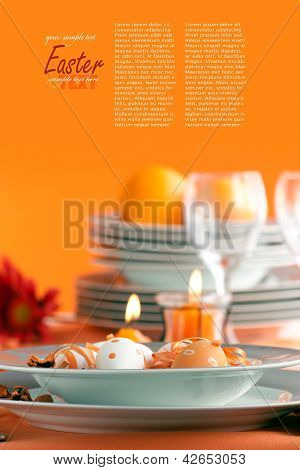 Easter Table Setting With Copyspace
