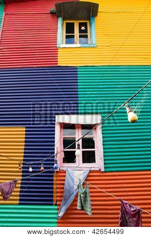 Colourful window in La Boca
