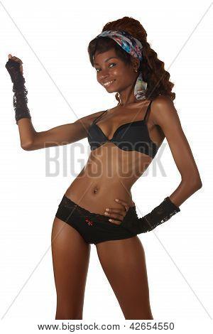 schwarze Afrikanerin