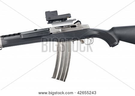 Assault Rifle On White