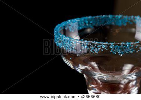 Blue Salt Rim Margarita Glass