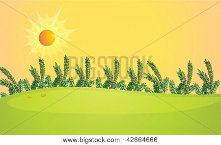 Illustration of a very bright sun