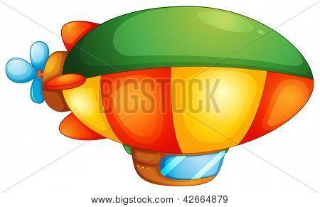 Illustration of a blimp on a white background