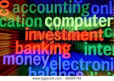 Investimento e operação bancária conceito