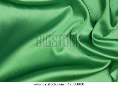 Fondo de seda verde o Esmeraldo