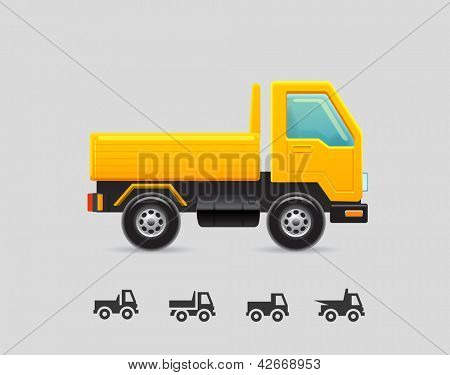 Yellow toy truck