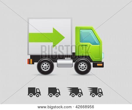 ícones de caminhão de entrega