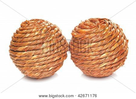 Two Wicker Balls