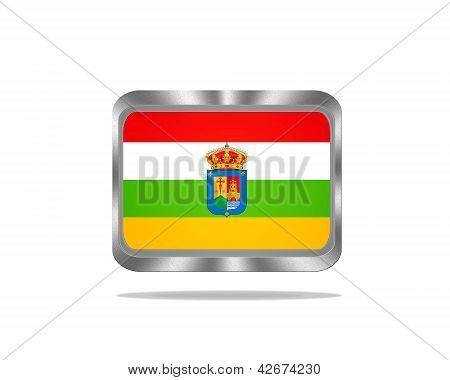Metal La Rioja Flag.