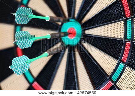 Target With Three Green Arrows