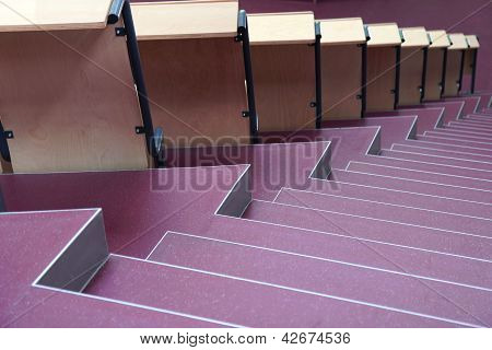 Seats With Stairs In University Hall