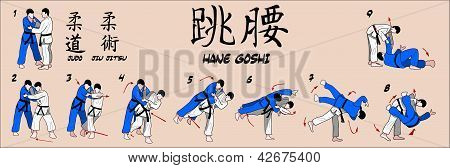 Tiro de cadera Judo primavera