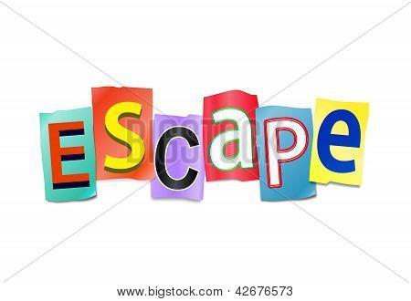 Conceito de escapar.
