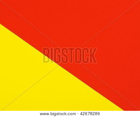 Red and yellow colors paper