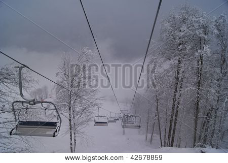 Ropeway In The Mountains