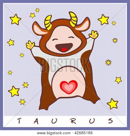 Baby Birth Greeting Card With Starsign
