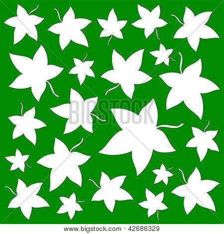 stylized maple leaves background