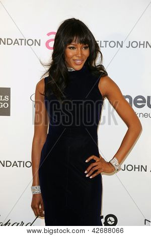 LOS ANGELES - FEB 24:  Naomi Campbell arrives at the Elton John Aids Foundation 21st Academy Awards Viewing Party at the West Hollywood Park on February 24, 2013 in West Hollywood, CA
