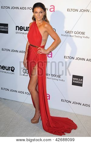 LOS ANGELES - FEB 24:  Serinda Swan arrives at the Elton John Aids Foundation 21st Academy Awards Viewing Party at the West Hollywood Park on February 24, 2013 in West Hollywood, CA
