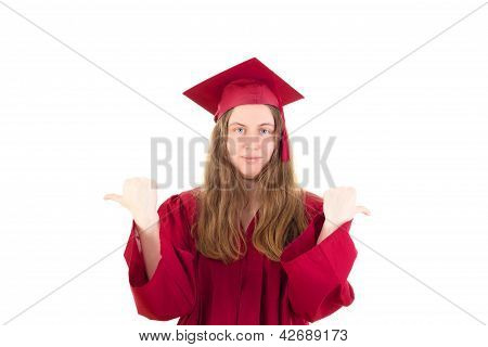 Female Graduate In Her Academic Gown
