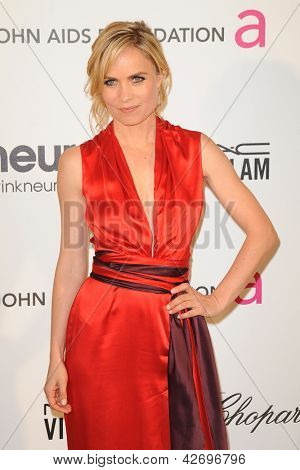 LOS ANGELES - FEB 24:  Radha Mitchell arrives at the Elton John Aids Foundation 21st Academy Awards Viewing Party at the West Hollywood Park on February 24, 2013 in West Hollywood, CA