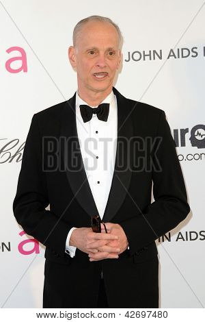 LOS ANGELES - FEB 24:  John Waters arrives at the Elton John Aids Foundation 21st Academy Awards Viewing Party at the West Hollywood Park on February 24, 2013 in West Hollywood, CA