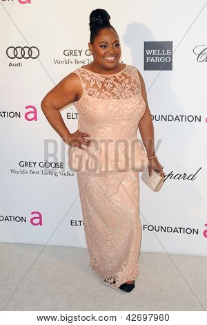 LOS ANGELES - FEB 24:  Sherri Shepherd arrives at the Elton John Aids Foundation 21st Academy Awards Viewing Party at the West Hollywood Park on February 24, 2013 in West Hollywood, CA